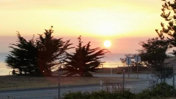 San Simeon sunset.