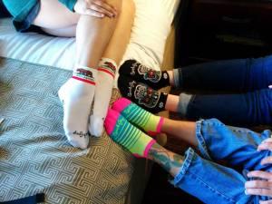 Our fancy new socks!