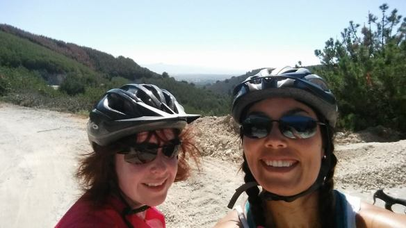 At the top of the day's last hill! It's all downhill to Lompoc now!