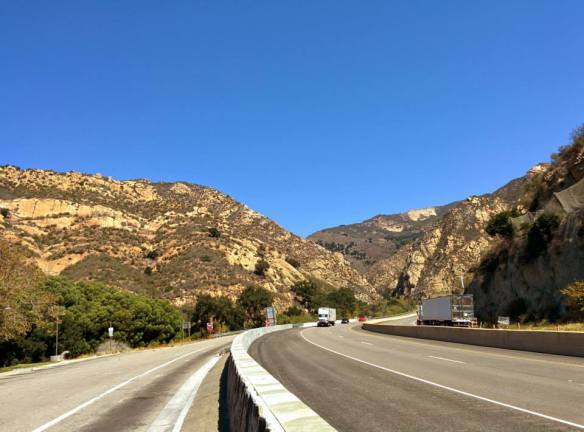 Highway 1 joins up with 101, and it's really starting to look like Southern California.