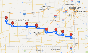 Map 8: From Alexander to Girard, July 5 to July 10