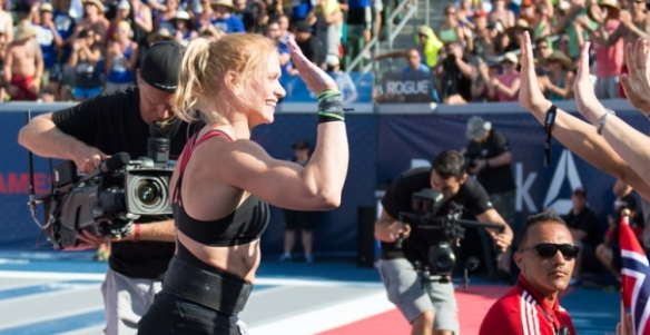 Does Annie Thorsdottir also have to trick herself into working out most days of the week, do you think?
