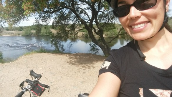 Lutz and me enjoying a relaxing day at the American River.