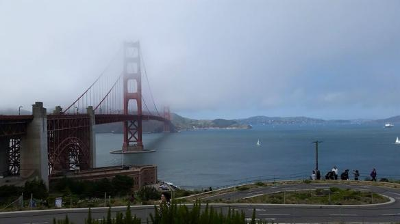 Good old foggy Golden Gate Bridge.
