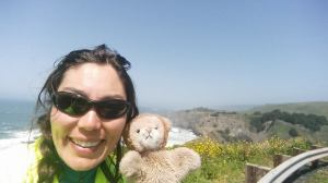 Mr. Lion and I enjoying some lunch in a beautiful spot.
