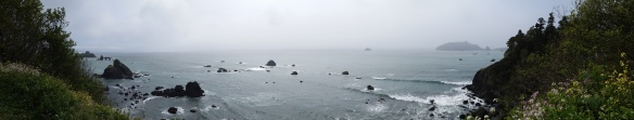 A panoramic shot of some of the beauty found at Patrick's Point.