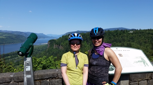 Sunyoung and me at Chanticleer Point.