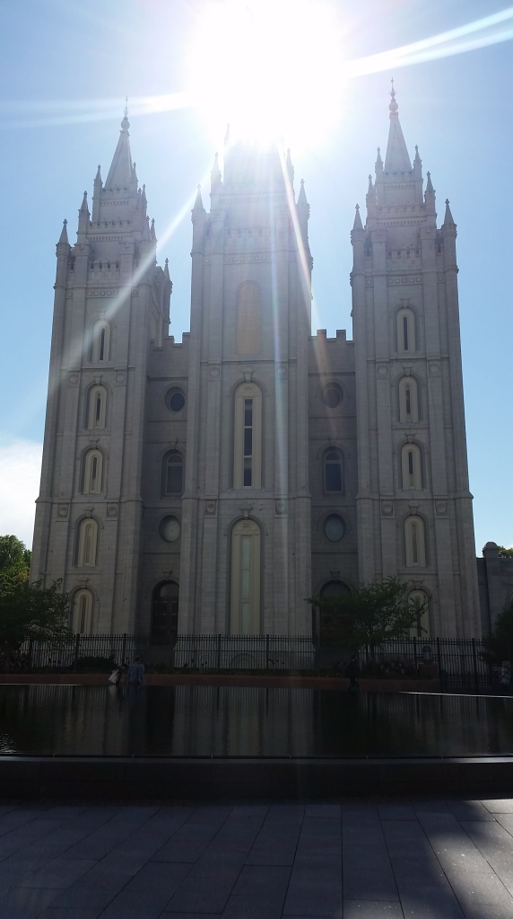 In the heart of Temple Square, SLC.