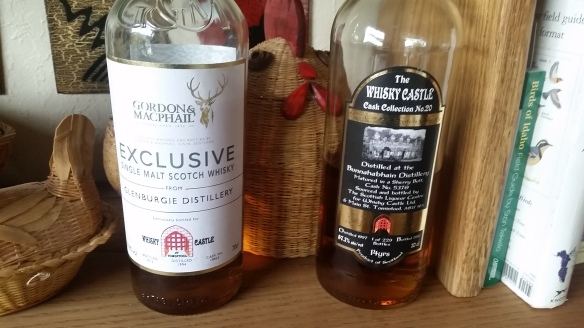 One very peaty, one not so much, both extremely delicious.