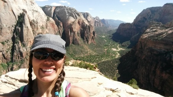 On top of Angels Landing.