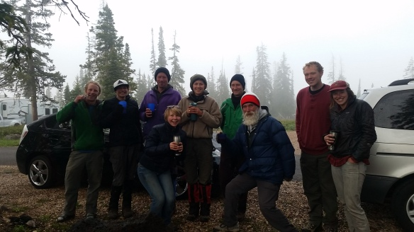 Forestry students and professors, also my saviors on this misty mountain.