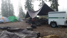 The forestry students' campsite.