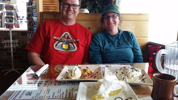Mike and Kirstin from California. And pie. Lots of pie.