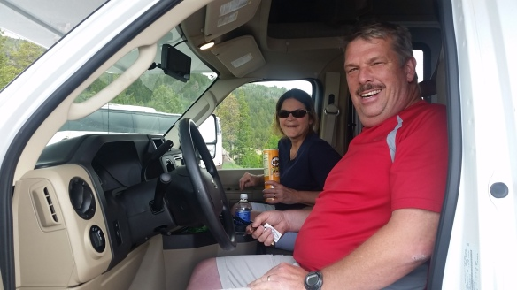Jim and Lynn, bringing me trail magic.