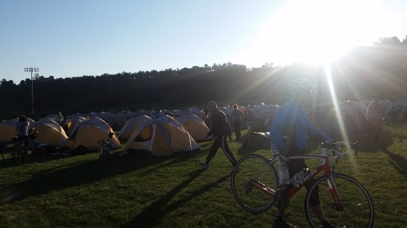 Lots and lots and lots of tents.