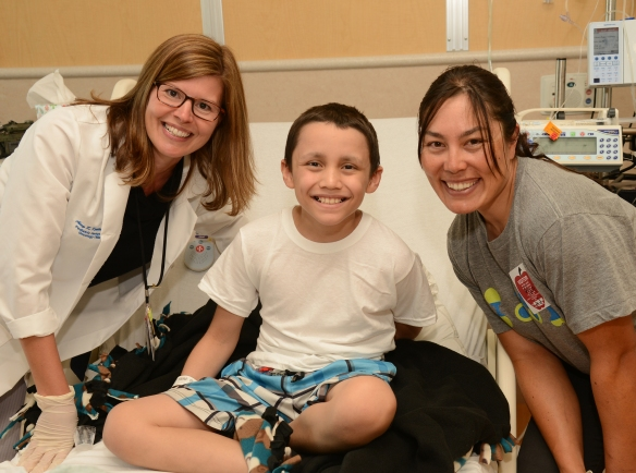 Isaiah recovers from his bone marrow transplant, thanks to a donor in Germany.