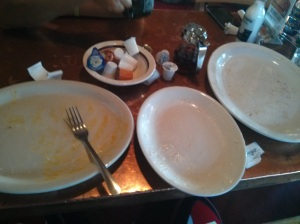 James actually cleaned his plates!