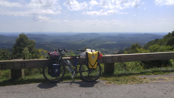 Riding the Blue Ridge Parkway.