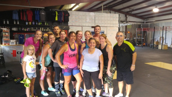 Post WOD at CrossFit Elizabethtown.