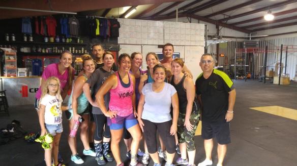 Post WOD at CrossFit Elizabethtown.
