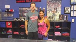 My coach at CrossFit Mayhem.