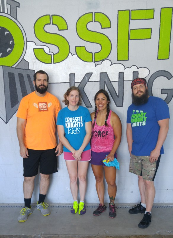 Just a few of my CrossFit Knights friends!