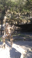 A statue of Jack by Cave Spring.