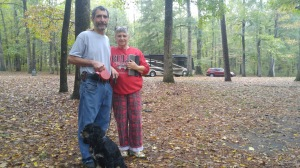 Al, Judy, and Wrigley - more saviors in an RV!