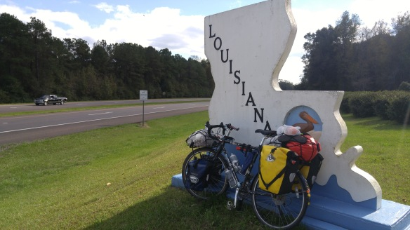 Crossing into Lousiana