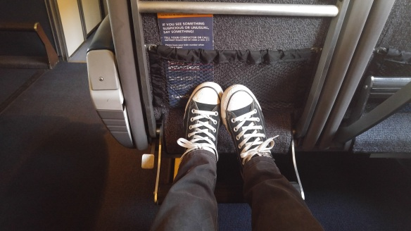 Feet up on the train